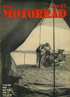 Das Motorrad 1936 Heft 29 0