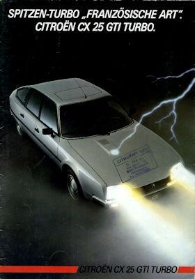 Citroen CX 25 GTI Turbo Prospekt 7.1984 0