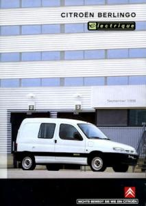 Citroen Berlingo Electrique Prospekt ca. 1998