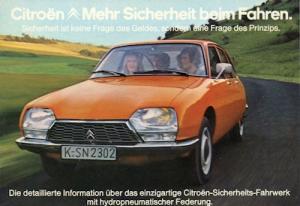 Citroen GS Special Prospekt ca. 1976