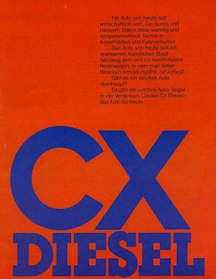 Citroen CX Diesel Prospekt 4.1977 0