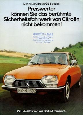 Citroen GS Special Prospekt ca. 1976 0