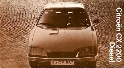 Citroen CX 2200 Diesel internes Prospekt ca. 1975 0
