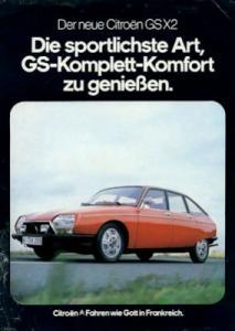 Citroen GS X 2 Prospekt ca. 1980