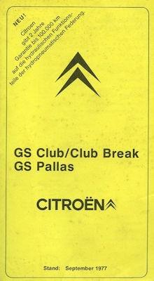 Citroen GS Technische Daten 9.1977 0