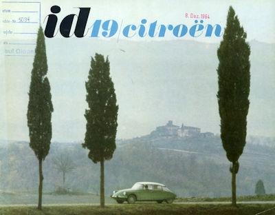 Citroen ID 19 Prospekt 11.1963 0