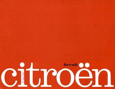 Citroen Break Prospekt ca. 1964 0