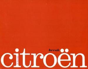 Citroen Break Prospekt ca. 1964