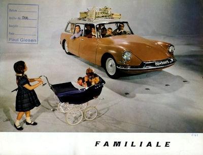 Citroen DS Familiale Prospekt 2.1961 0