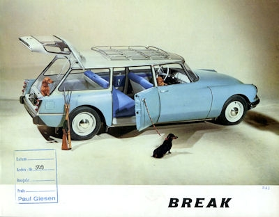 Citroen DS Break Prospekt 2.1961 0
