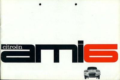 Citroen Ami 6 Prospekt ca. 1961 0