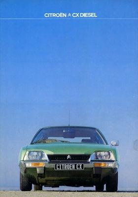 Citroen CX Diesel Prospekt 9.1977 0