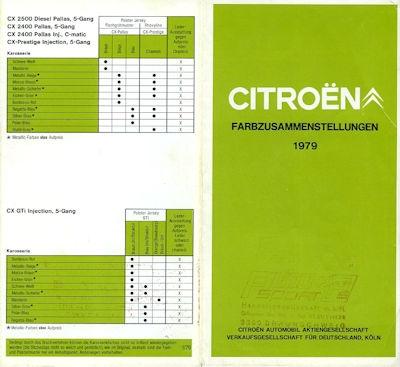 Citroen Farben 1979 0