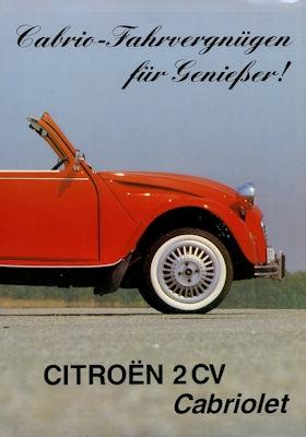Citroen 2 CV Cabriolet Prospekt 1980er Jahre 0