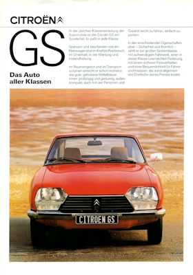 Citroen GS Special / Club / Pallas / Break Club / GS X X3 Prospekt 9.1978 0
