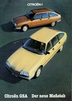 Citroen GSA Prospekt 11.1981 0