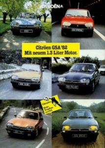 Citroen GSA Prospekt 9.1981