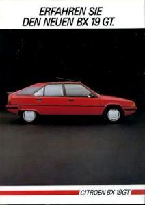 Citroen BX Prospekt 7.1984