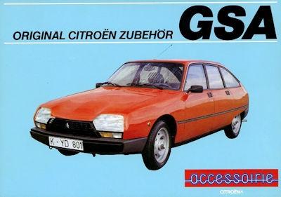Citroen GSA Zubehör Prospekt 9.1983 0