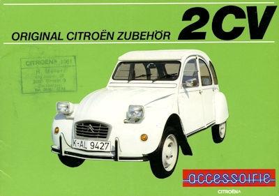 Citroen 2 CV Zubehör Prospekt 9.1983 0