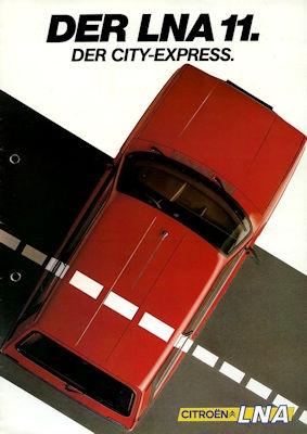 Citroen LNA 11 Prospekt 7.1983 0