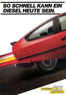 Citroen CX Turbo Diesel Prospekt 3.1983 0