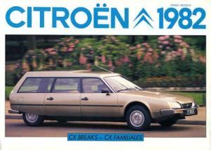 Citroen CX Breaks / Familiales Prospekt 1982