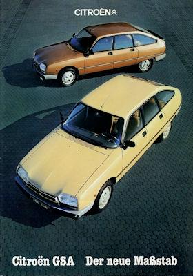Citroen GSA Prospekt 11.1980 0