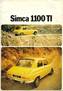 Simca 1100 TI Prospekt 1.1974