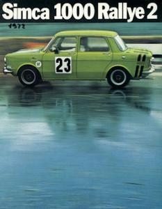 Simca 1000 Rallye 2 Prospekt 1972 it
