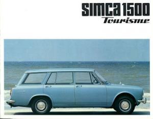 Simca 1500 Tourisme Prospekt ca. 1966