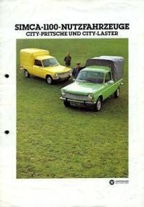 Simca 1100 Nutzfahrzeuge Prospekt 8.1977