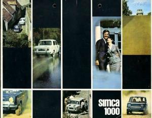 Simca 1000 Prospekt 2.1965