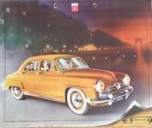 Simca 9 Aronde Prospekt 1950er Jahre