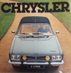 Chrysler 2 Liter Prospekt 8.1978