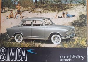 Simca Aronde P 60 Montlhery Speciale Prospekt ca. 1962