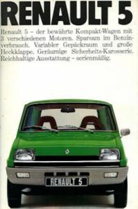 Renault 5 Prospekt ca. 1976