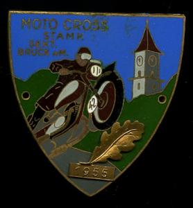 Plakette Moto Cross STAMK Sekt. Bruck a.M. 1955