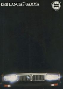 Lancia Gamma Prospekt ca. 1982