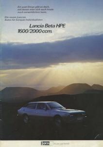 Lancia Beta HPE Prospekt ca. 1979