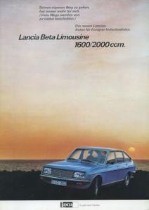 Lancia Beta Limousine Prospekt ca. 1979