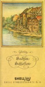 Shell Straßenkarte 13 Niederschlesien 1930er Jahre