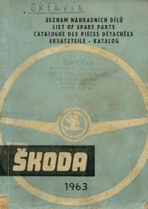 Skoda Octavia Ersatzteilliste 1963