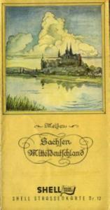 Shell Straßenkarte 12 Sachsen 1930er Jahre