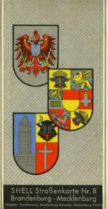 Shell Straßenkarte 8 Brandenburg-Mecklenburg 1930er Jahre