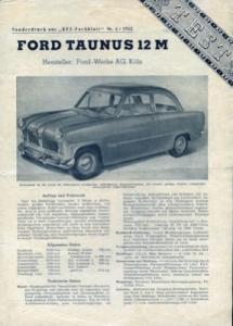 Ford Taunus 12 M Test 1952