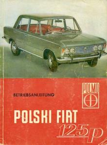 Polski Fiat 125 P Bedienungsanleitung 1968