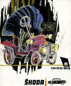 Skoda 1000 MB Prospekt 1960er Jahre f