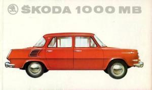 Skoda 1000 MB Prospekt ca. 1964