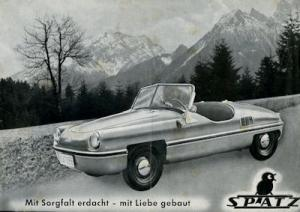 Spatz 200 ccm Prospekt ca. 1956